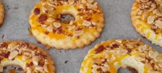 Песочное печенье кольцо с арахисом