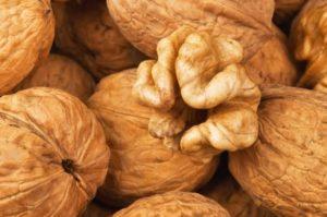 ядро ореха и орехи в скорлупе